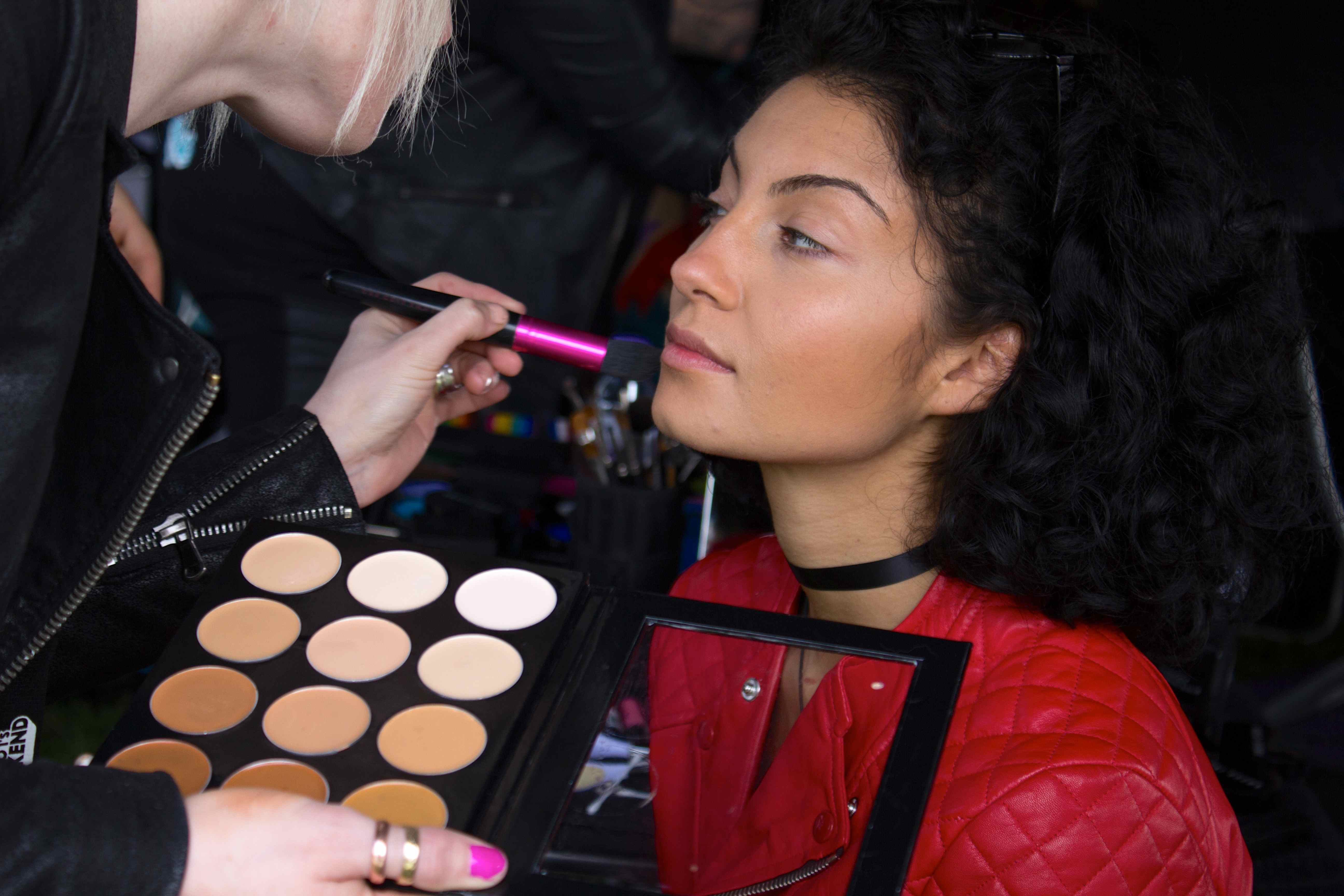 makeup makeover event staff