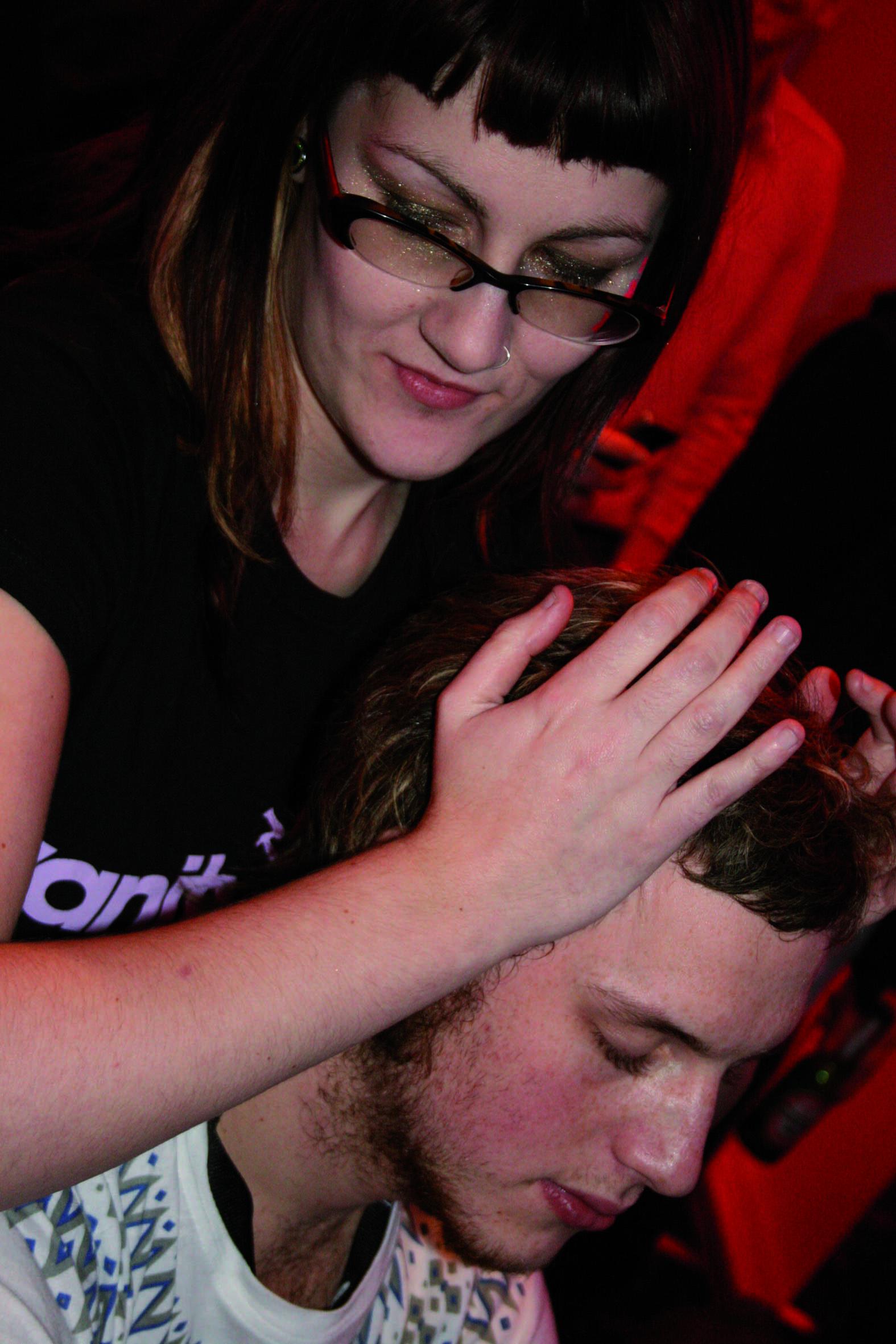 Massage treatment event staff
