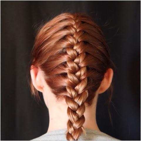 Vanity van hairstyle french plait