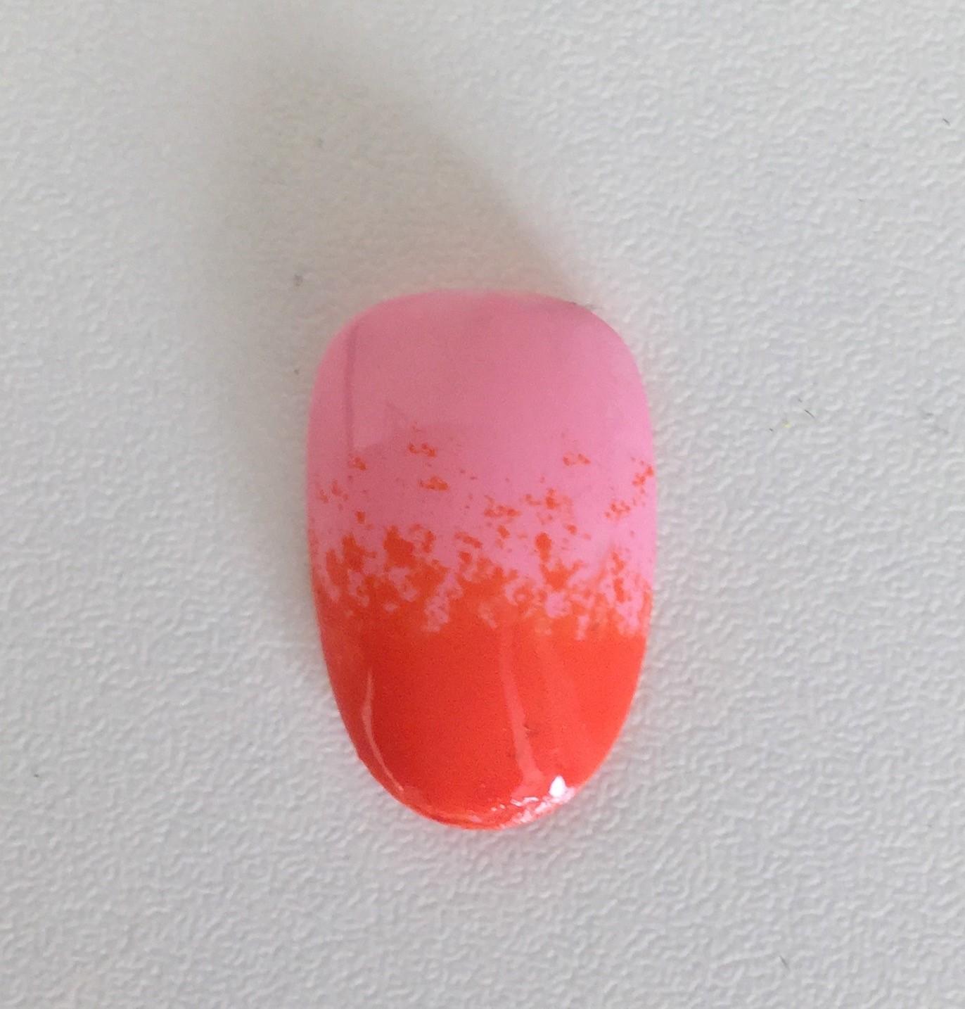 Vanity van nail art ombre