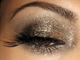 glitter eyes for christmas