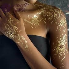 metallic Henna designs