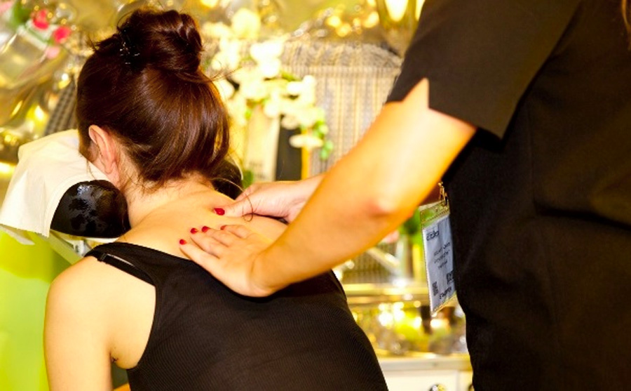 corporate event mobile salon massage