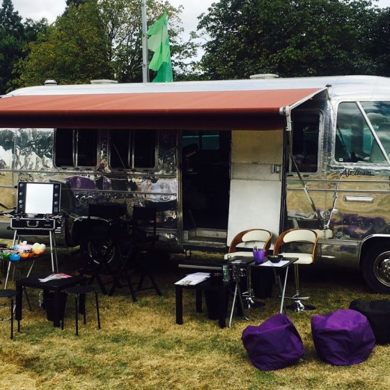 Vanity Van airstream mobile salon
