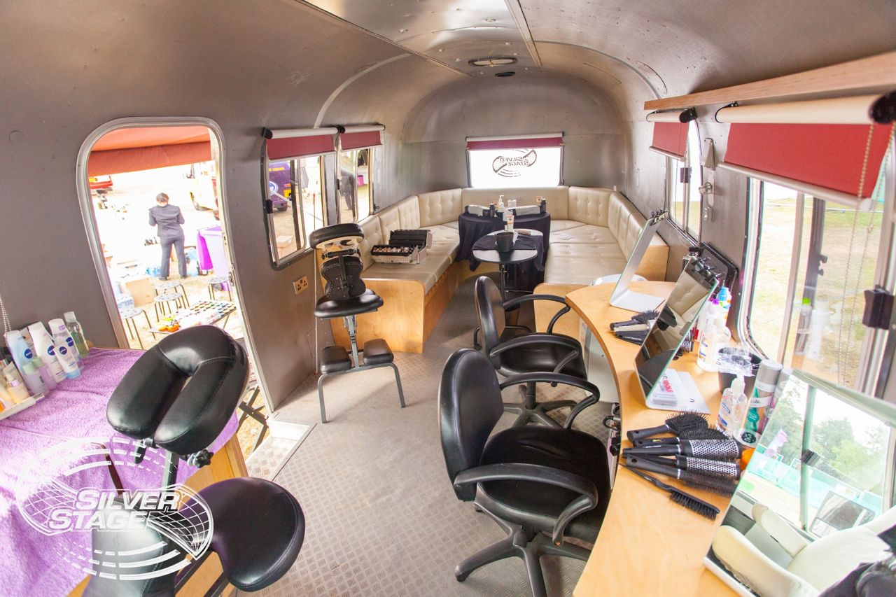 Airstream salon examples vanity van
