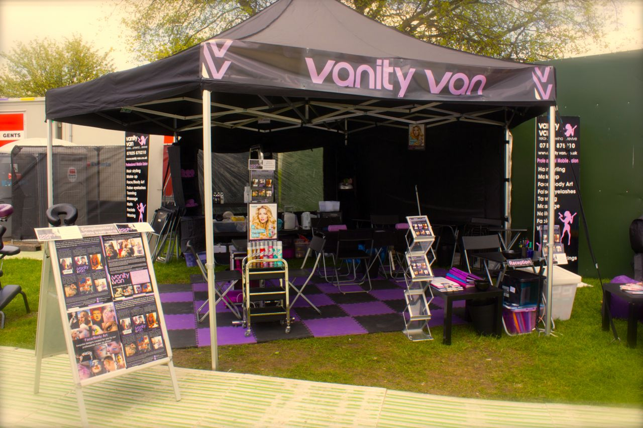 outdoor salon examples vanity van