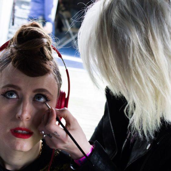 54-radio-one-big-weekend-2014-kiesza-singer-from-gorgon-city-having-her-make-up-done