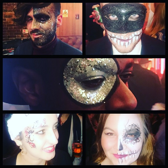 themed corporate parties halloween creative face art