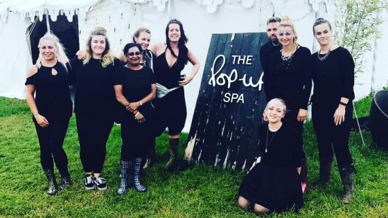 Glastonbury Vanity Van team photo