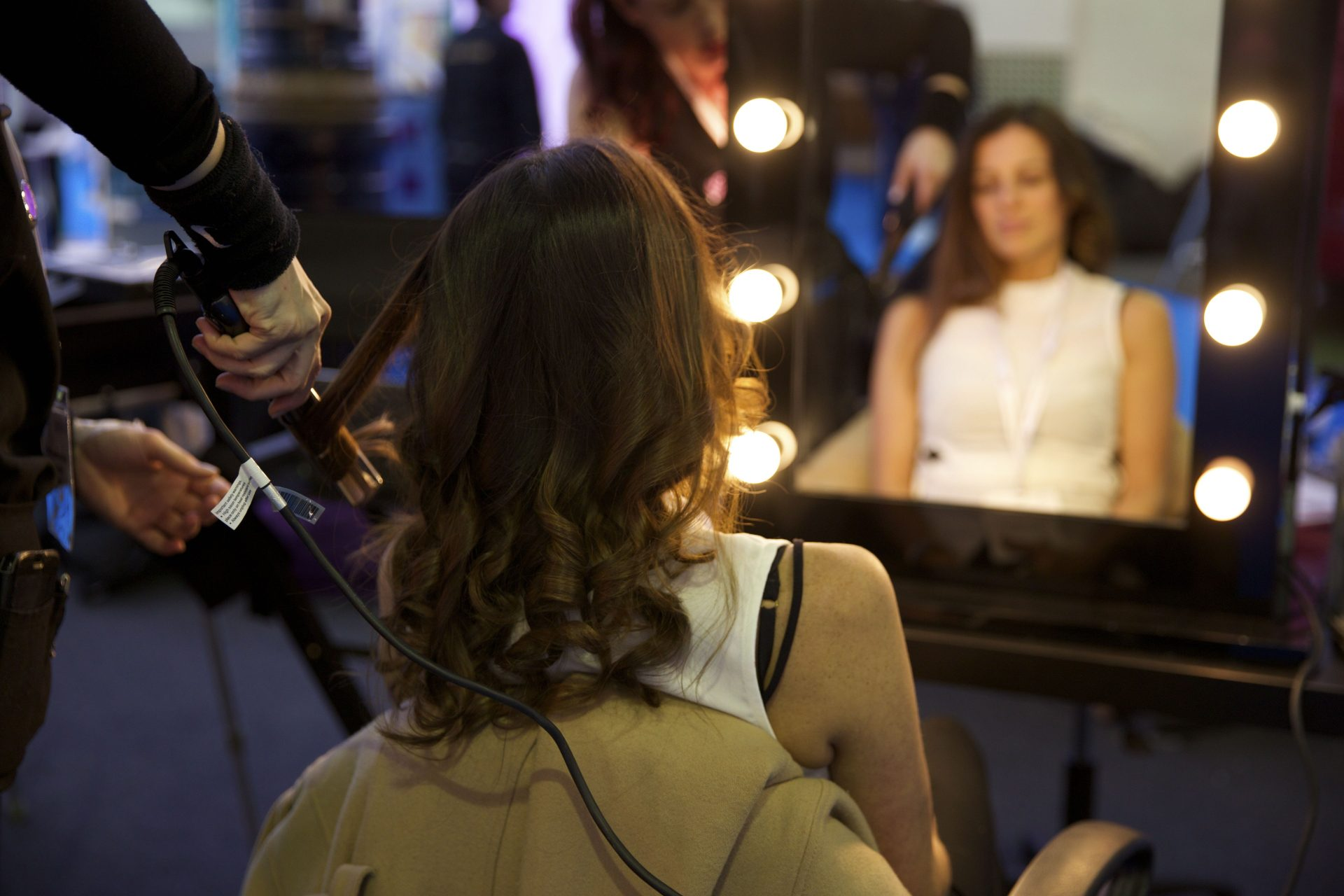 Christmas beauty hair styling