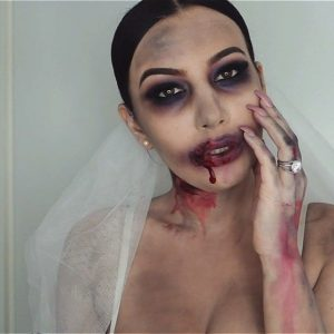 zombie bride halloween make up