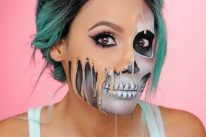 Melting Face Halloween Makeup