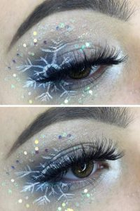 Christmas Party Makeup Snowflake