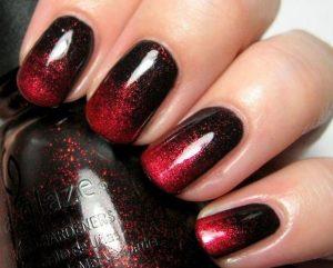 Halloween ombre nail art