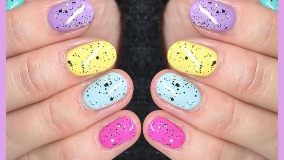 Easter Nail Art Mini Egg Design