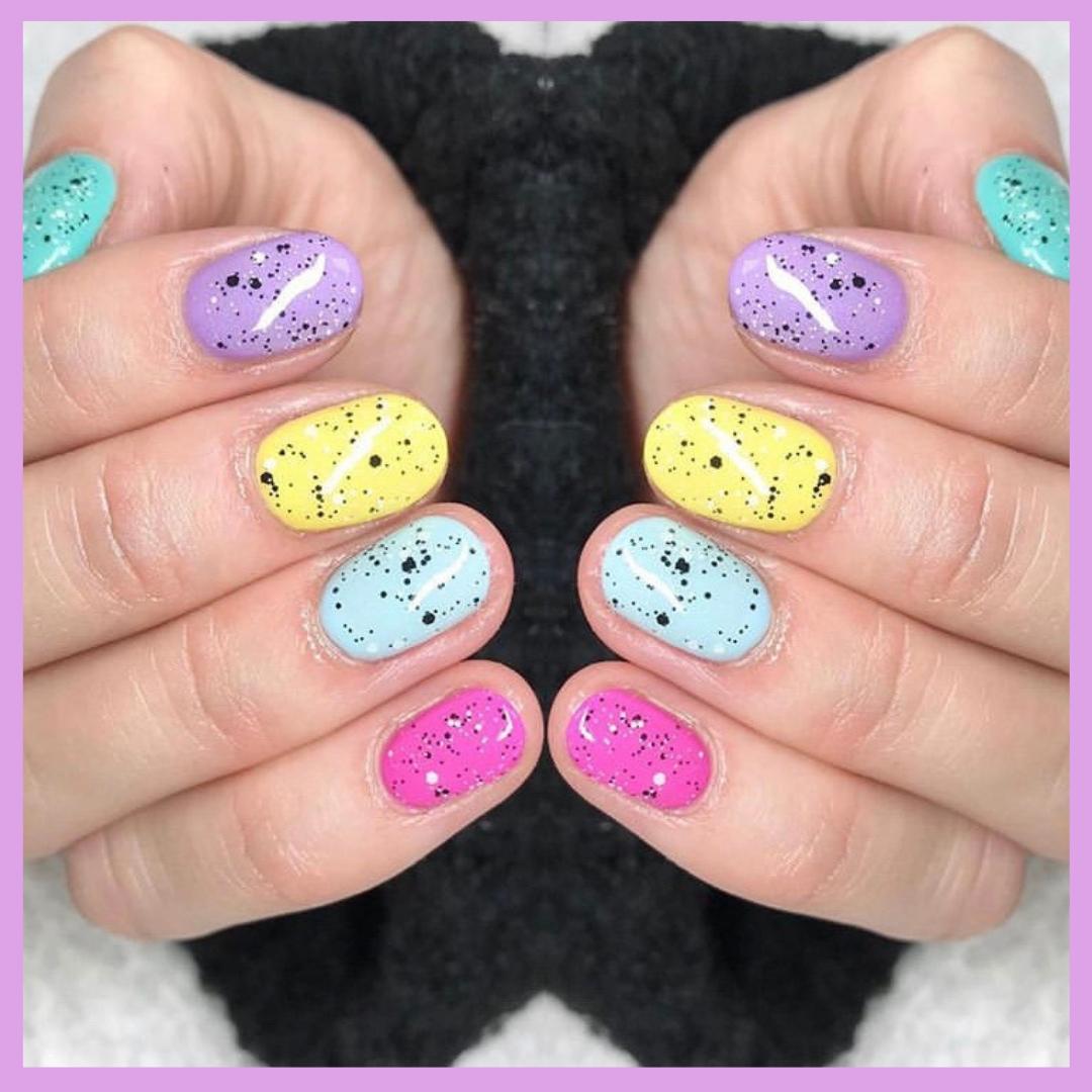 Easter Nail Art Mini Egg Design