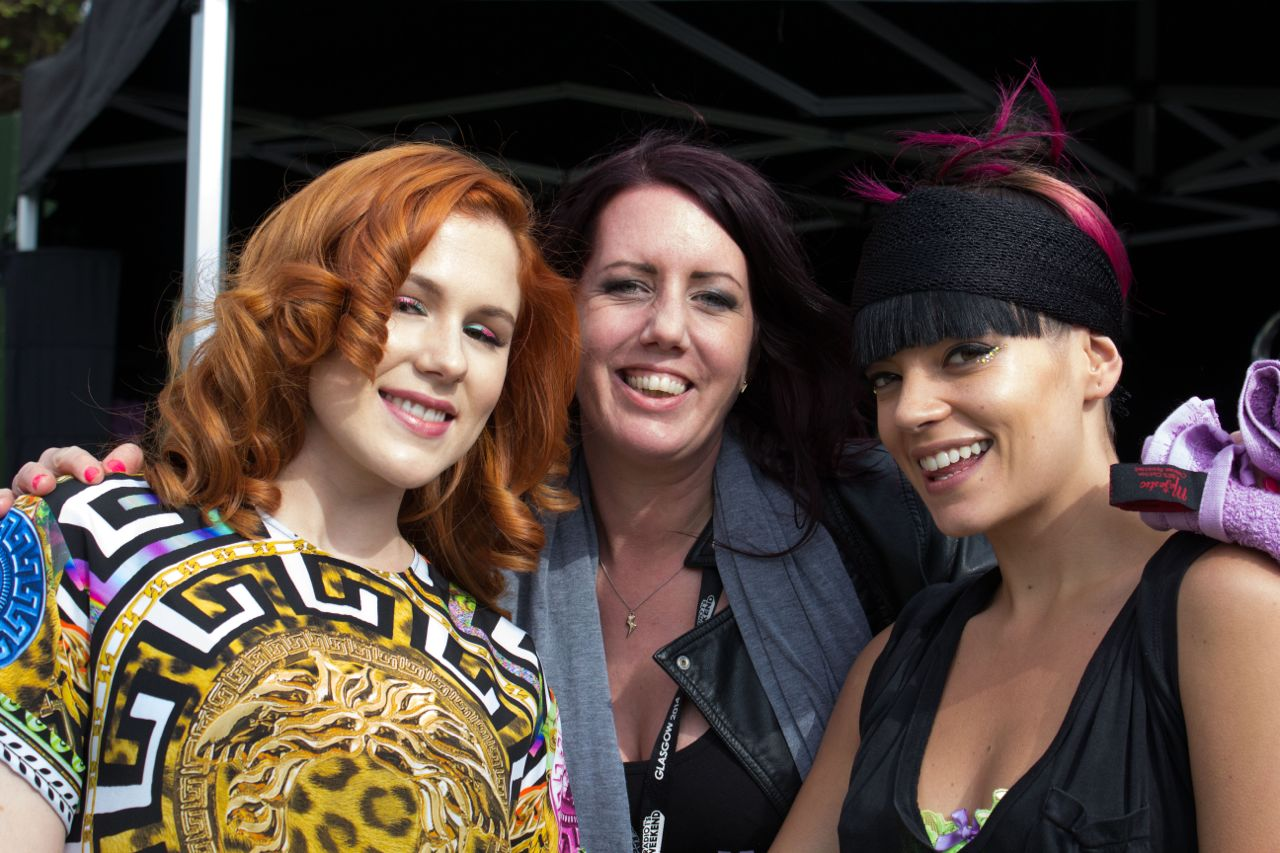 3 - Katy B and Lilly Allen with Alix