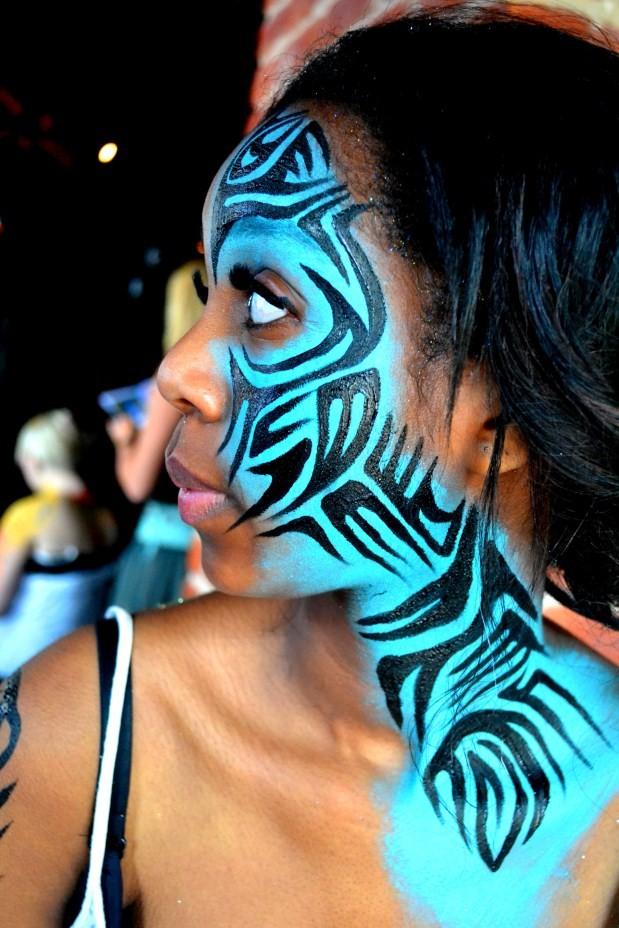 Vanity van body paint tribal