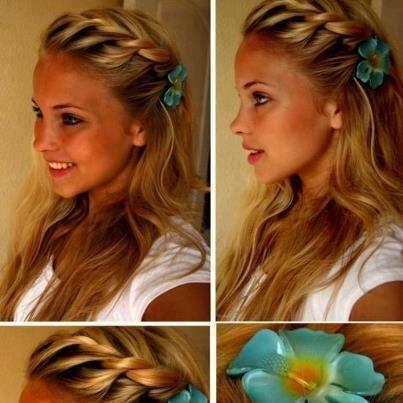 Vanity van hair style fringe plait