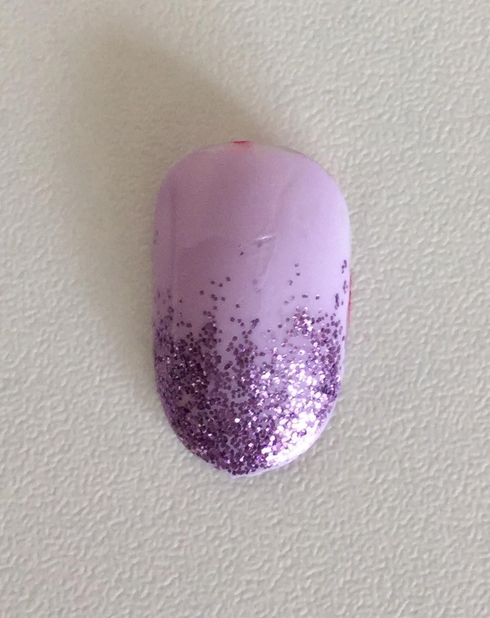 Vanity van nail art glitter fade