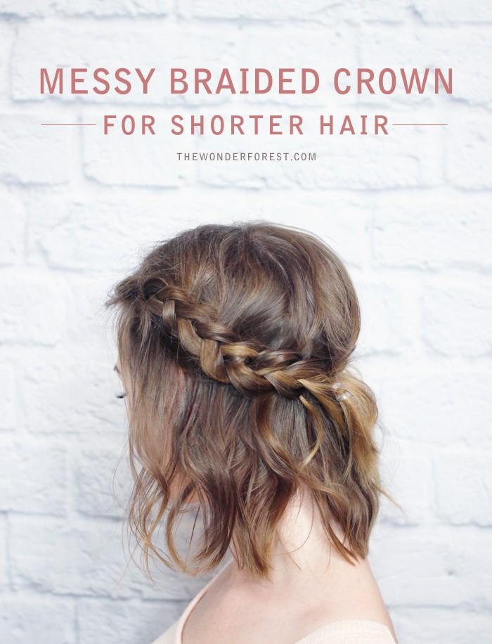 Vanity van hair style messy braided crown