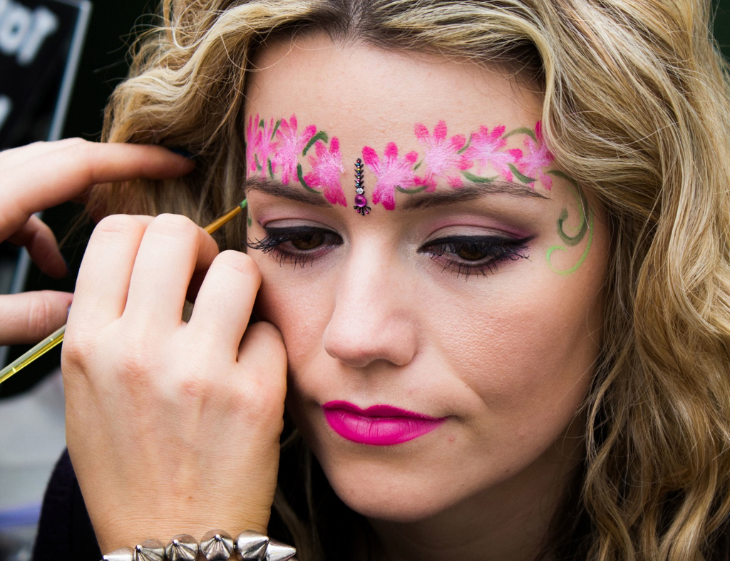 Face Body Art With Vanity Van S Team Of Makeup Artists
