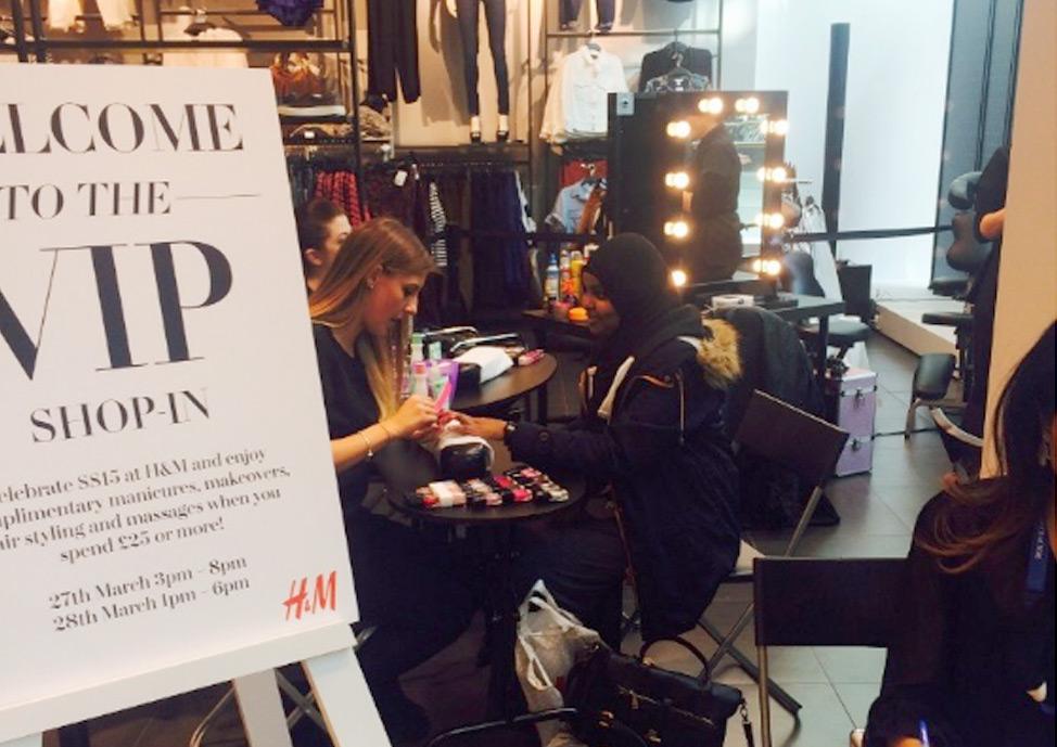 event types staff and customer rewards pop up salon