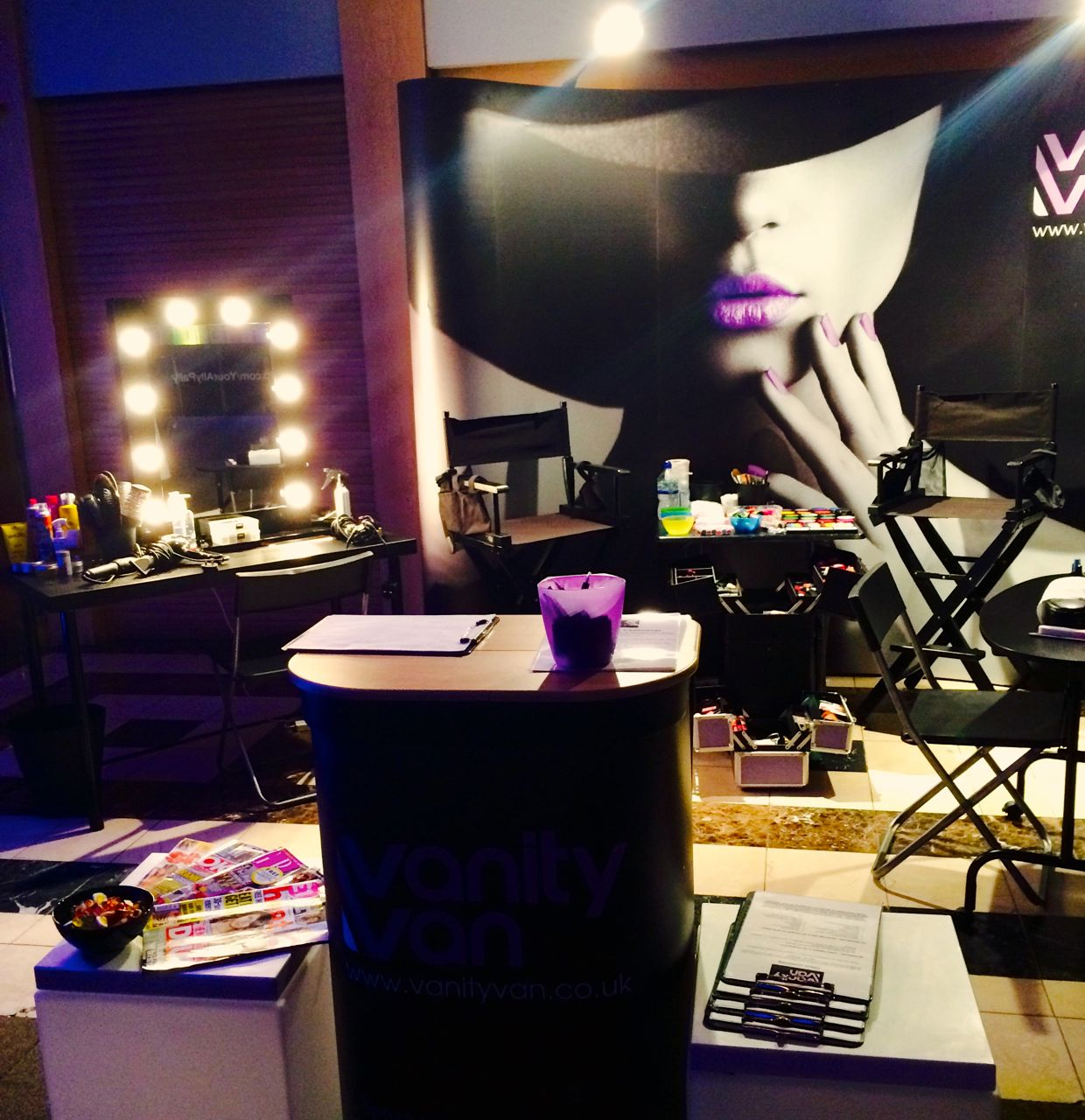hospitality areas mobile salon setup