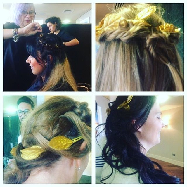 corporate parties themed hairstyling
