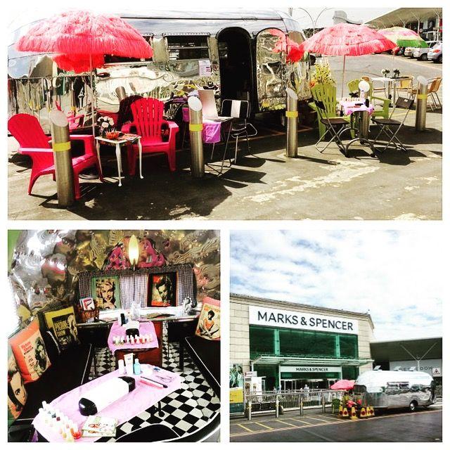 shopping centre campaigns airstream salon setup