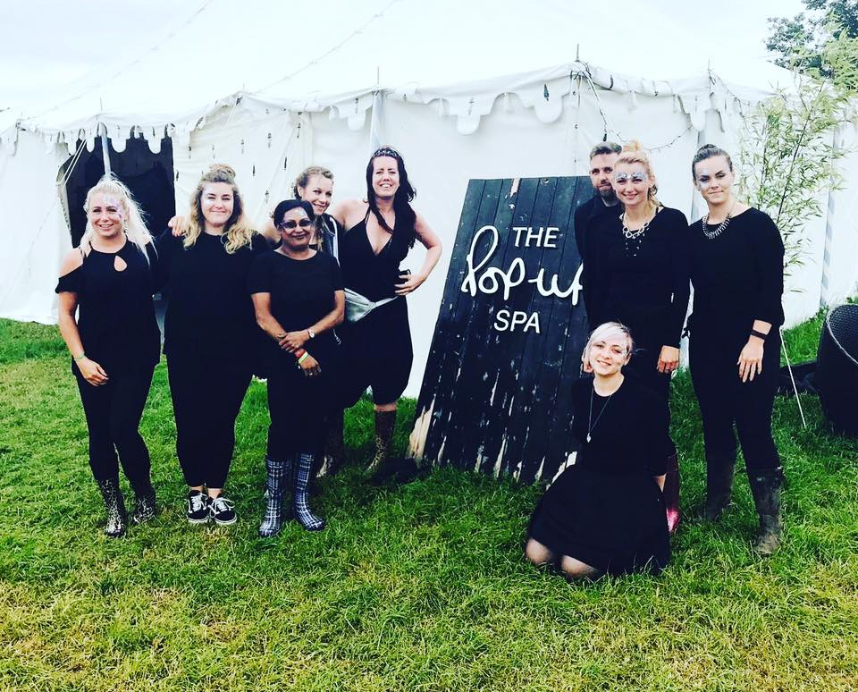 Glastonbury Vanity Van team photo