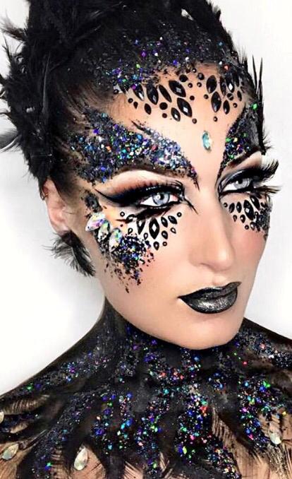 black swan halloween make up