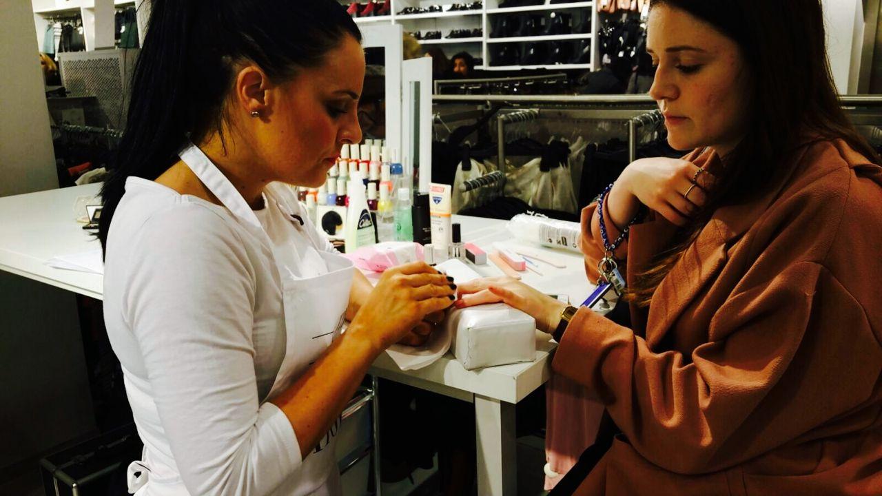 H&M Beauty Tour nail treatments